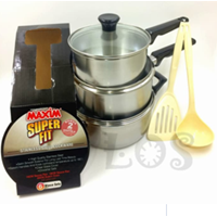 Wajan Panci Maxim Stainless Set Super Fit
