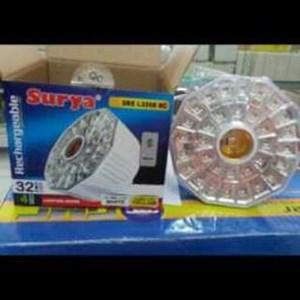 Lampu Emergency Surya Sre L3208 Rc  28Smd Led Putih 4Smd Led Kuning Sekoli