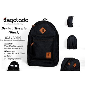 Tas Denimo Tercerio Black