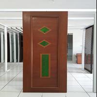 Pintu Aluminium Motif Kayu  1