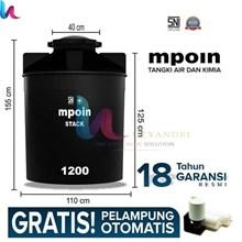 Tangki Air MPOIN PLUS 1200 Stack Toren Tandon 1200 Liter