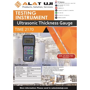 Ultrasonic Thickness Gauge Time 2170