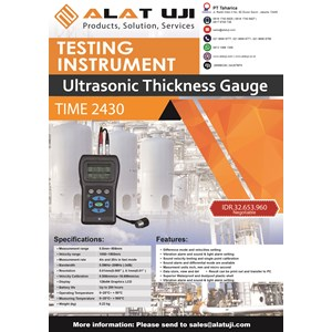 Ultrasonic Thickness Gauge Time 2430