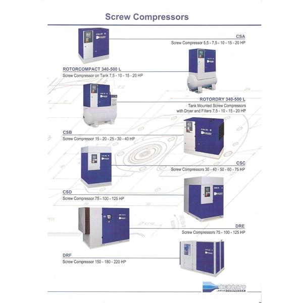 Kompressor Angin Screw Ceccato (10Hp - 200Hp)