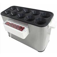 Mesin Makanan dan Minuman Cepat Saji Mesin Sosis Telur Listrik 10 Lubang / Sostel