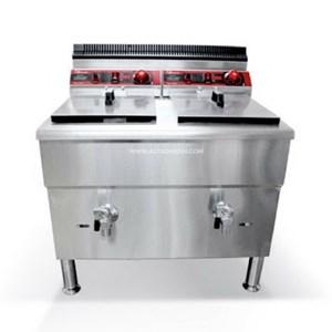 Dari Gas Deep Fryer / Penggorengan Gas 2 x 17 liter dengan Thermostat 0