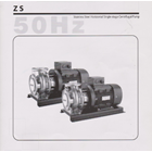 Pompa Centrifugal Stainless Steel Horizontal Single Stage ZS 1