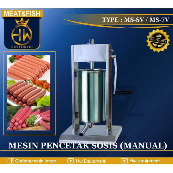 Mesin Pencetak Sosis (Manual) MS-5V & MS-7V