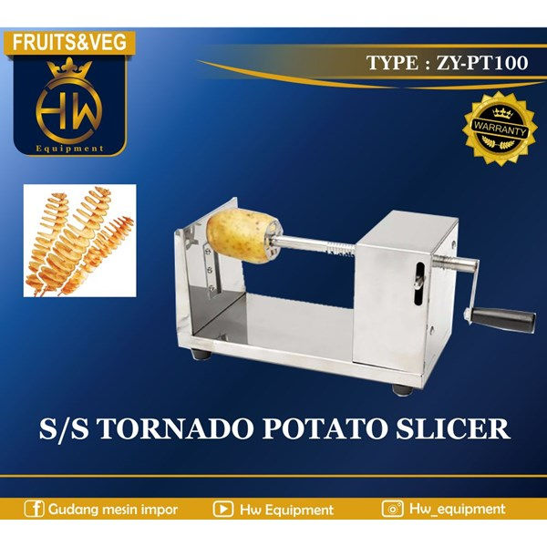 S/S TORNADO POTATO SLICER MANUAL ZY-PT100