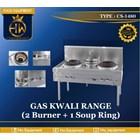 Gas Kwali Range tipe CS-1480 (2 burner + 1 soup tank) 1