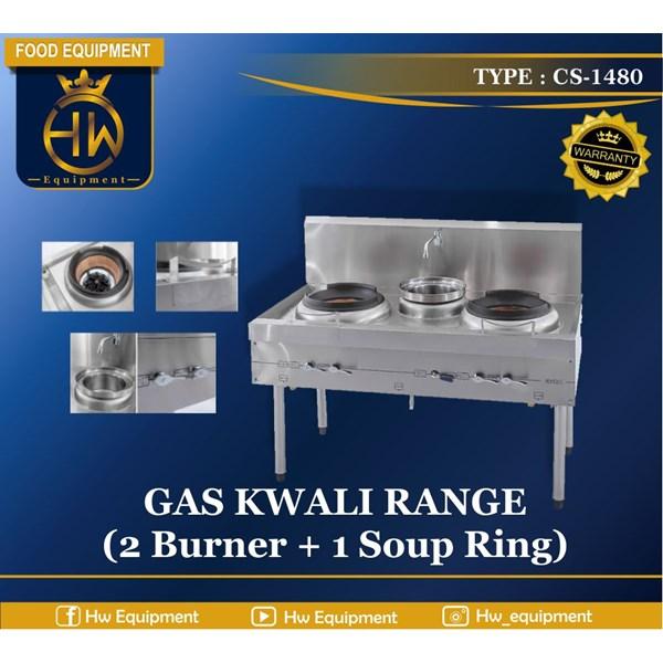 Gas Kwali Range tipe CS-1480 (2 burner + 1 soup tank)