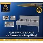 Gas Kwali Range tipe CS-1880 (2 burner + 2 soup tank) 1