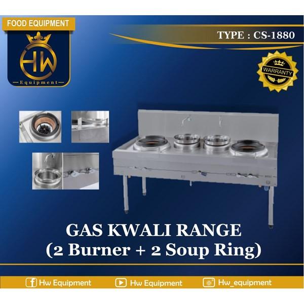Gas Kwali Range tipe CS-1880 (2 burner + 2 soup tank)
