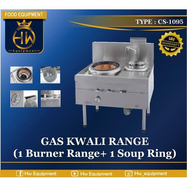 Gas Kwali Range tipe CS-1095 Blower Kwali Range (1 burner + 1 soup tank)