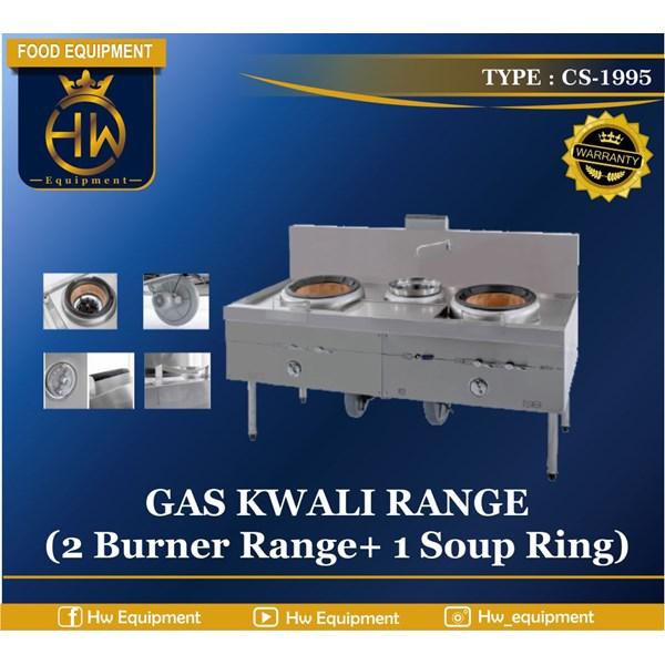 Gas Kwali Range / Blower Kwali Rangetipe CS-1995 (2 burner +1 soup tank)