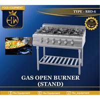 Kompor Gas Open Burner (Stand) tipe RBD-6