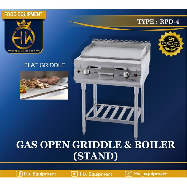 Gas Open Griddle & Boiler (Stand) tipe RPD-4