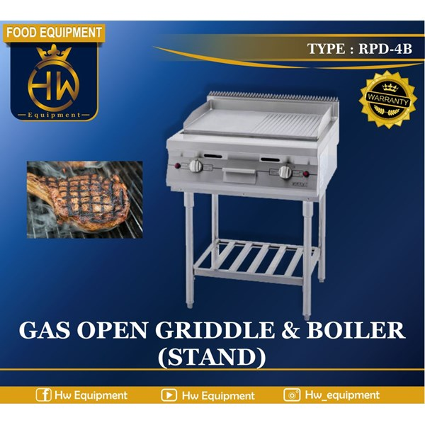 Gas Open Griddle & Boiler (Stand) tipe RPD-4B