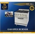 Kompor Gas Open Burner tipe RBJ-4 (4 Burner gas range + Oven) 1