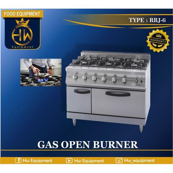 Kompor Gas Open Burner + Oven tipe RBJ-6