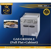 Gas Open Griddle with Cabinet tipe RPG-4