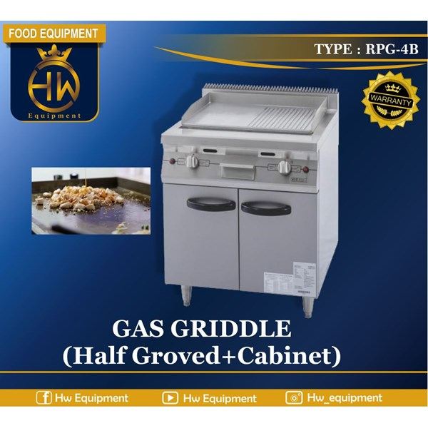 Gas Open Griddle with Cabinet tipe RPG-4B