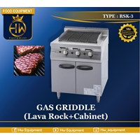 Gas Open Griddle with Cabinet tipe RSK-3