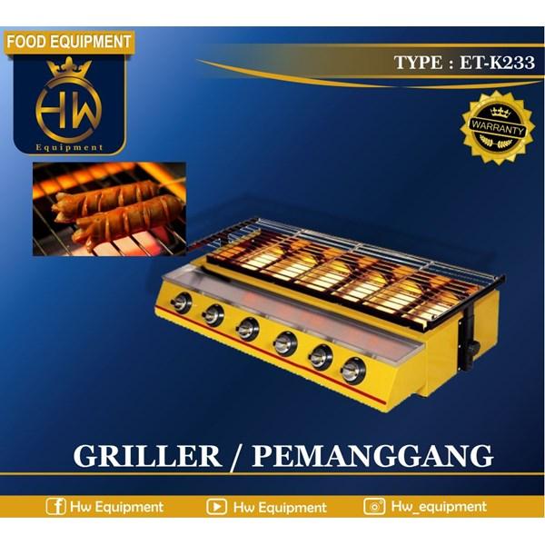 Mesin Pemanggang Sosis - Gas Griller tipe ET-K233