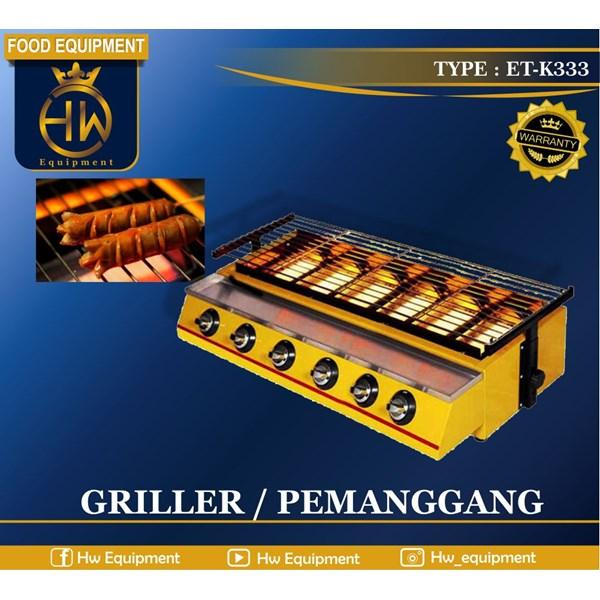 Mesin Pemanggang Sosis - Gas Griller tipe ET-K333 (Big Burner)
