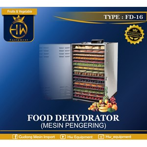 Mesin Pengering Makanan / Food Dehydrator GETRA tipe FD-16