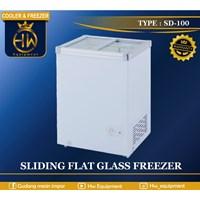 Chest Freezer Sliding Flat Glass tipe SD-100