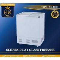 Chest Freezer Sliding Flat Glass tipe SD-132P