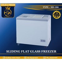 Mesin Pendingin Freezer Sliding Flat Glass tipe SD-186