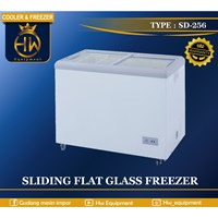 Mesin Pendingin Freezer Sliding Flat Glass tipe SD-256
