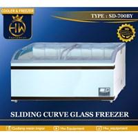 Mesin Pendingin Freezer Sliding Curve Glass tipe SD-700BY