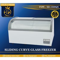 Mesin Pendingin / Freezer Pintu Kaca Melengkung tipe SD-1500QS