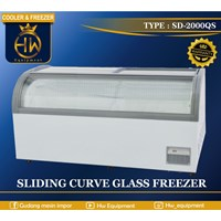 Mesin Pendingin / Freezer Pintu Kaca Melengkung tipe SD-2000QS