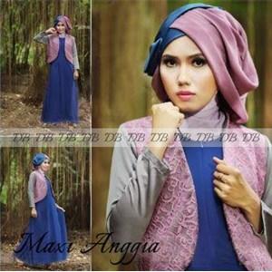 Baju Maxi Anggia Dan Pashmina R744