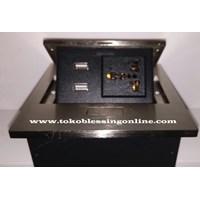 Multifunction Outlet Stopkontak Bfl 888-21 Satin Nickel 1