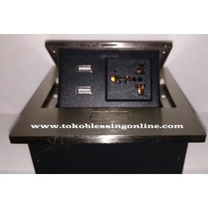 Multifunction Outlet Stopkontak Bfl 888-21 Satin Nickel