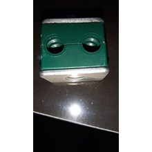 Hydraulic Pipe Clamp 14 mm 2 holes