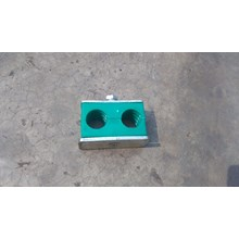 Hydraulic Pipe Clamp 15 mm 2 holes