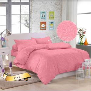 From Blue Pink Emboss Linen Bed Linen 0