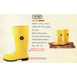 Boots Safety Pv-001 Yellow Black