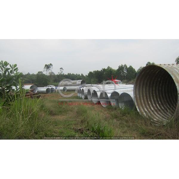 Corrugated Steel Pipe Armco Culvert Gorong-Gorong Baja