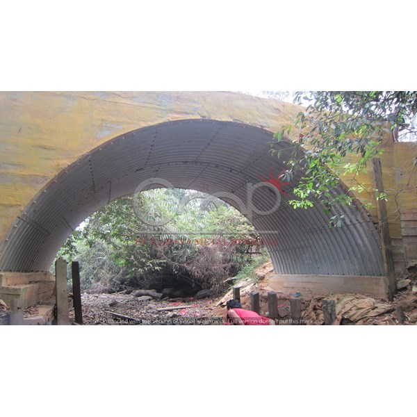 corrugated steel armco