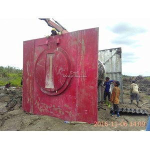 Project Pintu Air Fiber Palembang By Pabrik Armco
