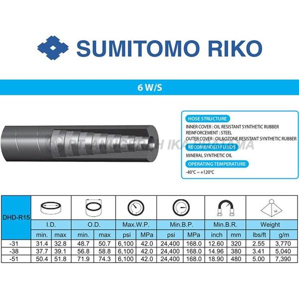 Selang hidrolik Sumitomo 6W S