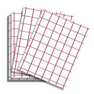 Transfer Paper Red Grid