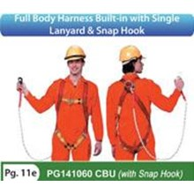 Full Body Harness Built In PG141060 CBU (With Snap Hook)